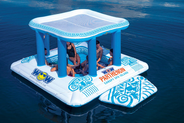 Parthenon Canopy 8-person Water Floating Island - Kids Eye Candy
