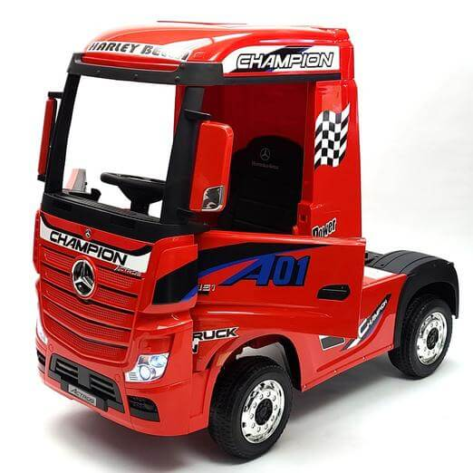Mercedes Kids 12V Ride-On Semi Truck Bluetooth MP3 LED Lights - Kids Eye Candy