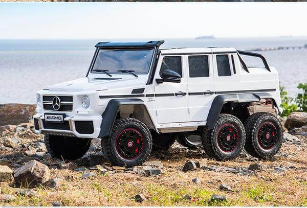 24V Mercedes G63S AMG Ride-On Six Wheel Drive with Parent Remote MP3 LED Wheels - Kids Eye Candy