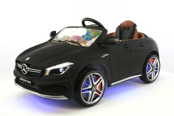 Mercedes Kids 12V CLA45 Ride-On Car w/ Parental Remote, MP3, Leather Seats, LED - Kids Eye Candy