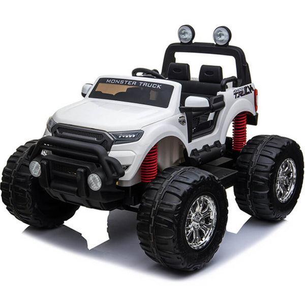Monster Truck Kids Best 12V Ride-On Two-Seater w/ Parent Remote, MP3, LED Lights - Kids Eye Candy