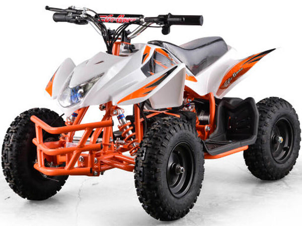 Mototec 24v Mini Quad Titan v5 White w/ Parental Control Key - Kids Eye Candy