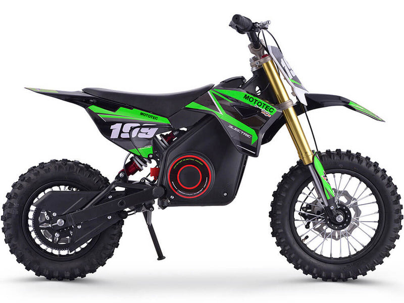 36V MotoTec Kids Electric Ride-On Dirt Bike 1000w | Lithium Green - Kids Eye Candy