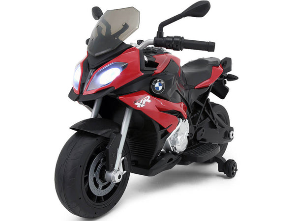 BMW Kids Ride-On 12V Motorcycle w/ MP3 LED Lights Training Wheels - Kids Eye Candy