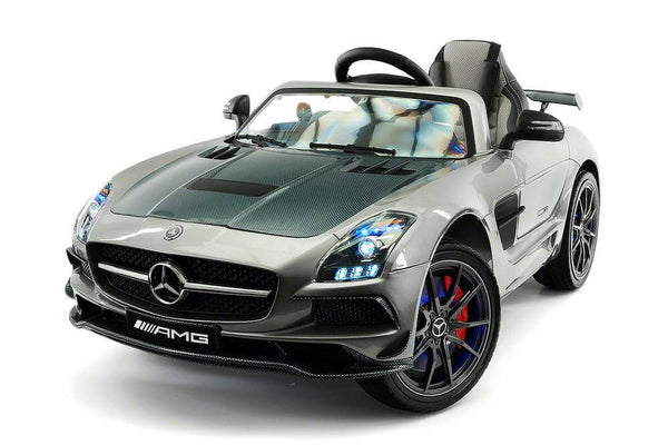 Mercedes Kids 12V SLS AMG Ride-On Car Remote Control, MP4, Leather Seats, LED Wheels - Kids Eye Candy