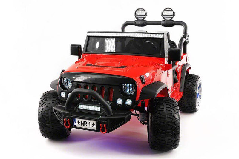 Explorer 12V Kids Truck Best Ride-On Two-Seater Parent Remote, MP3, Leather Seats, LED Wheels - Kids Eye Candy