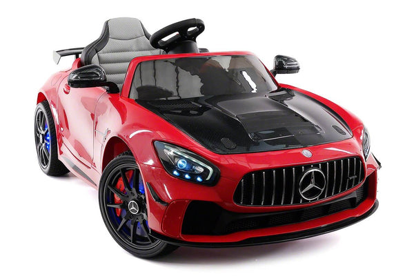 Mercedes Kids 12V GT AMG Ride-On Car Parental Remote, MP3, Leather Seats, LED Lights - Kids Eye Candy