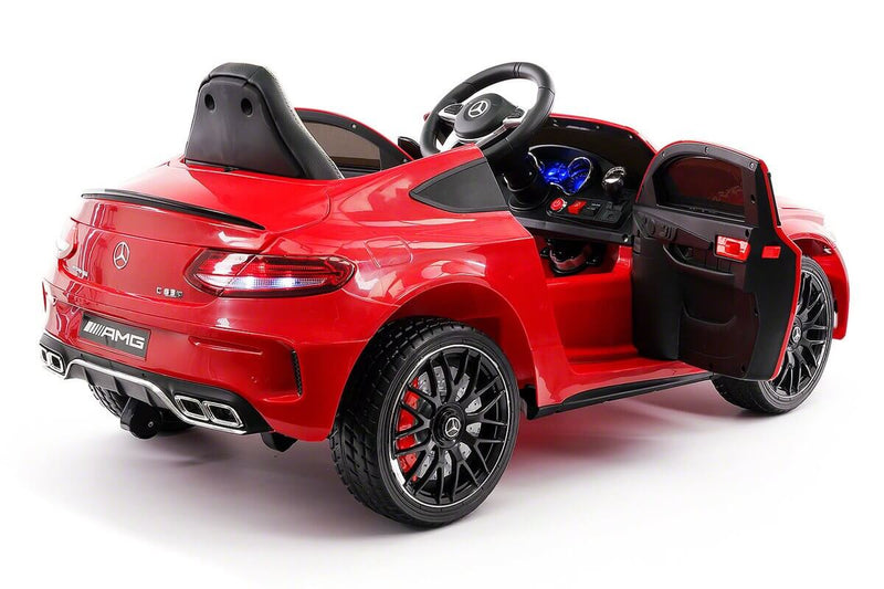 Mercedes Kids 12V C63S Ride-On Car w/ Parental Remote, MP3, Leather Seats, LED Lights - Kids Eye Candy