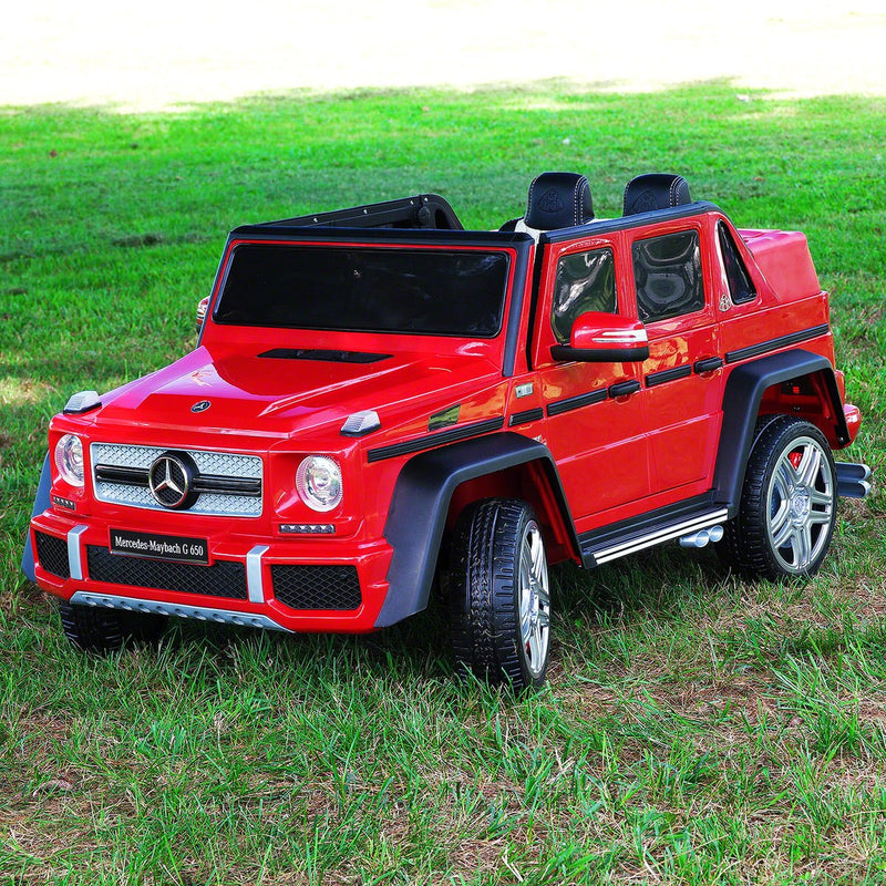 Mercedes Kids Maybach G650 12V Ride-On Car Parental Remote, MP3, Leather Seats, LED Lights - Kids Eye Candy