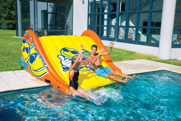 Slide N Smile Giant 2-Lane Floating Water Slide - Kids Eye Candy