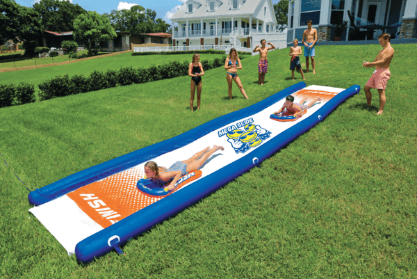 Mega Slide 25FT Giant Backyard Water Slide with Cushioned Sleds - Kids Eye Candy