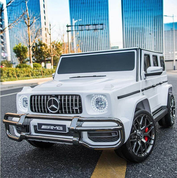 Mercedes G63 AMG 24V Kids Ride-On Two-Seater Remote Control, Bluetooth, LED Lights - Kids Eye Candy