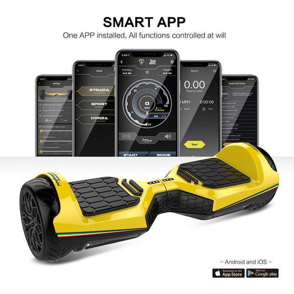 "Lamborghini Style 6.5"" Electric Hoverboard with LED Lights Bluetooth MP3 Player - Kids Eye Candy"