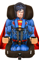 Kids Superman Combination Harness Booster Car Seat With Cape - Kids Eye Candy