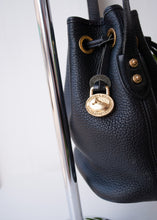 Load image into Gallery viewer, Navy Pebble Dooney & Bourke Drawstring Purse