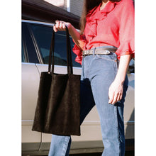 Load image into Gallery viewer, Aunt Rae Black Suede Tote