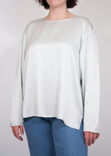Pastel Eileen Fisher Silk Blouse, Large
