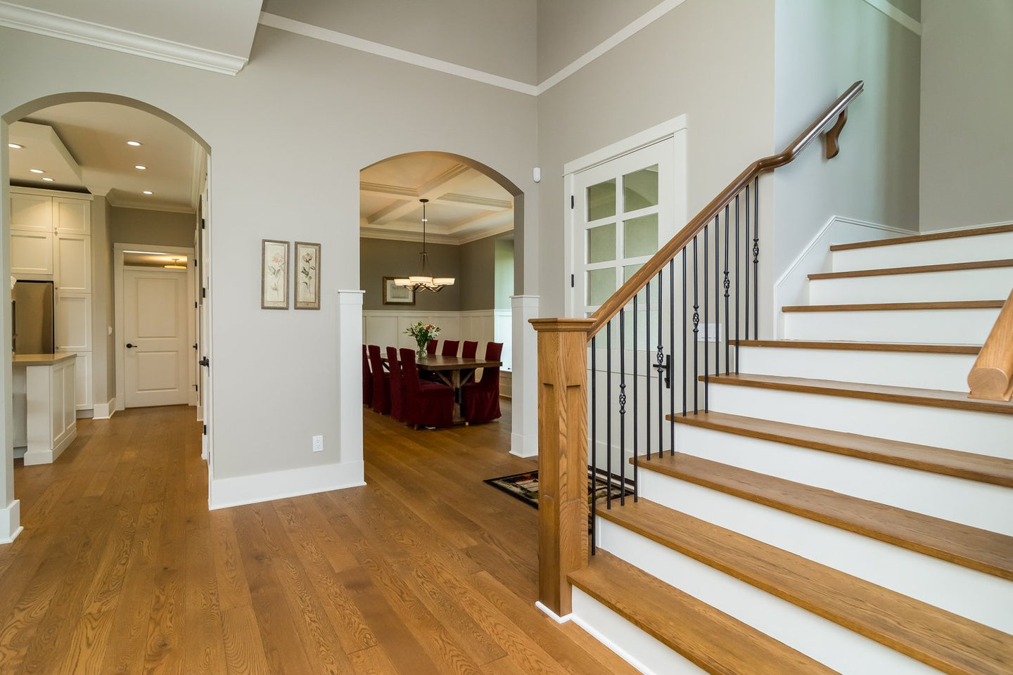 foyer in completed custom built house