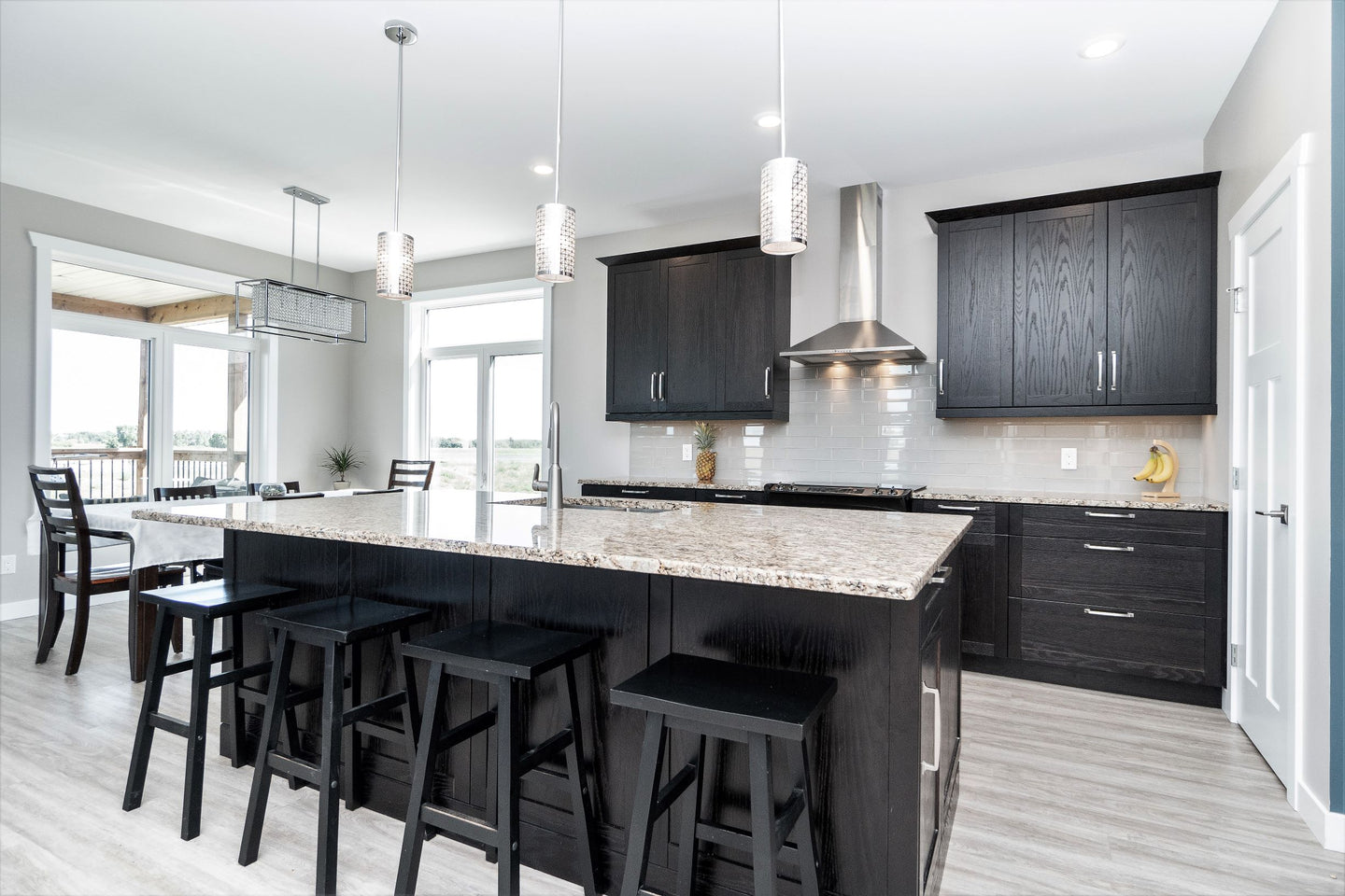 crisp, clean kitchen in custom built house in St. Adolphe Manitoba