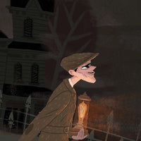 Arriving at the Haunted Manor Giclée Print
