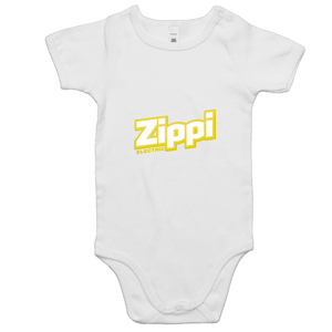Official Zippi Electric Kids Onesie - Yellow/White