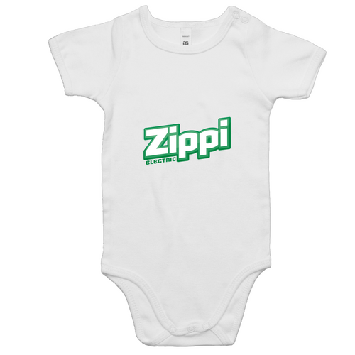 Official Zippi Electric Kids Onesie - Green/White