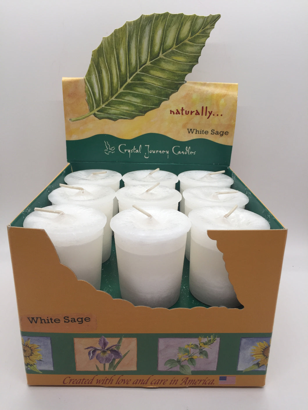 Naturally Votive Candles - White Sage