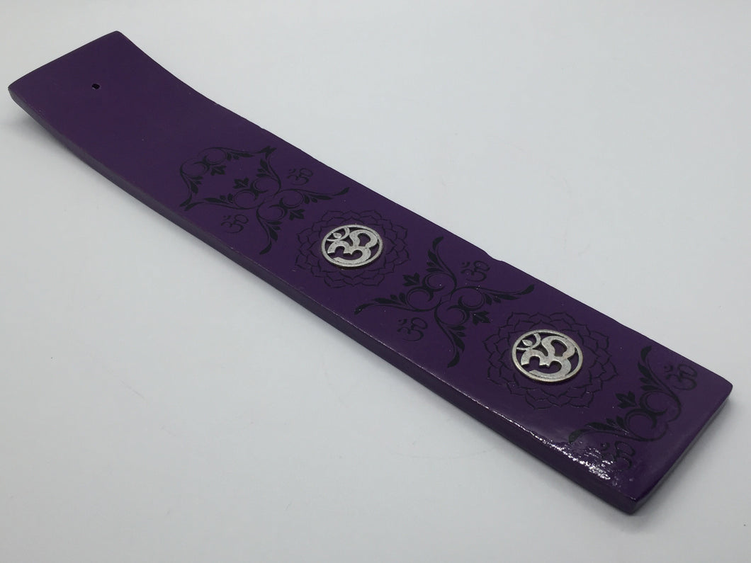 Incense Stick Ash Catchers - Wide Om Purple