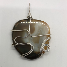 Load image into Gallery viewer, Wire Wrap Agate Slab Pendant