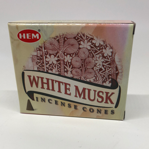White Musk Cone Incense