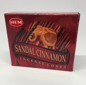 Sandal Cinnamon Cone Incense