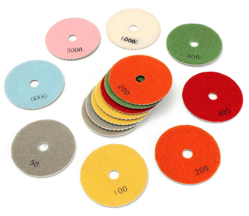 "Diamond Polishing Pads Kit 4"" Wet/Dry w/Backer Pad"