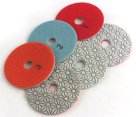 3 Step Dimond Flexible Polishing Pads Wet/Dry