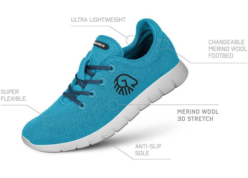 Features Merino Runners