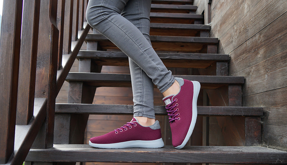 look cool in winter trainers