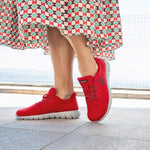 Giesswein Merino Wool Runners WOMEN - flame red 343