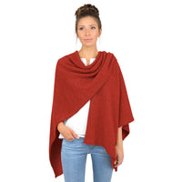 Giesswein Poncho - sport orange 182