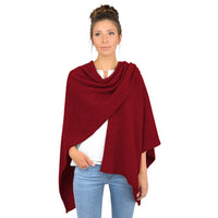Giesswein Poncho - flame red 343