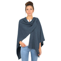 Giesswein Poncho - Denim blue 578