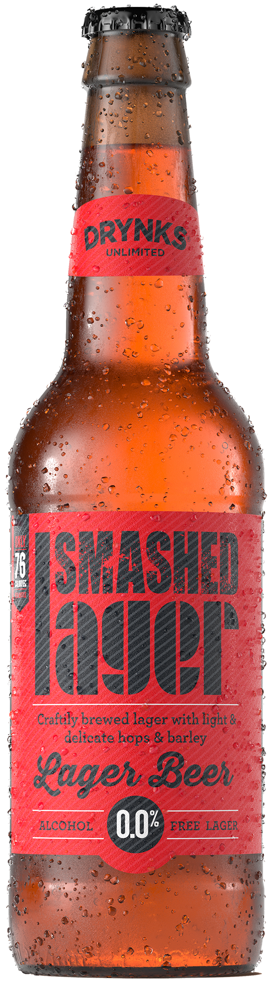 Smashed Lager - Drynks 0.05% 330ml Case of 12