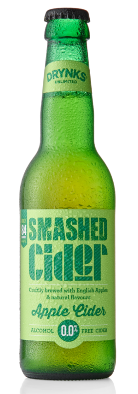 Smashed Cider Short Date - Drynks 0.05% 330ml Case of 12