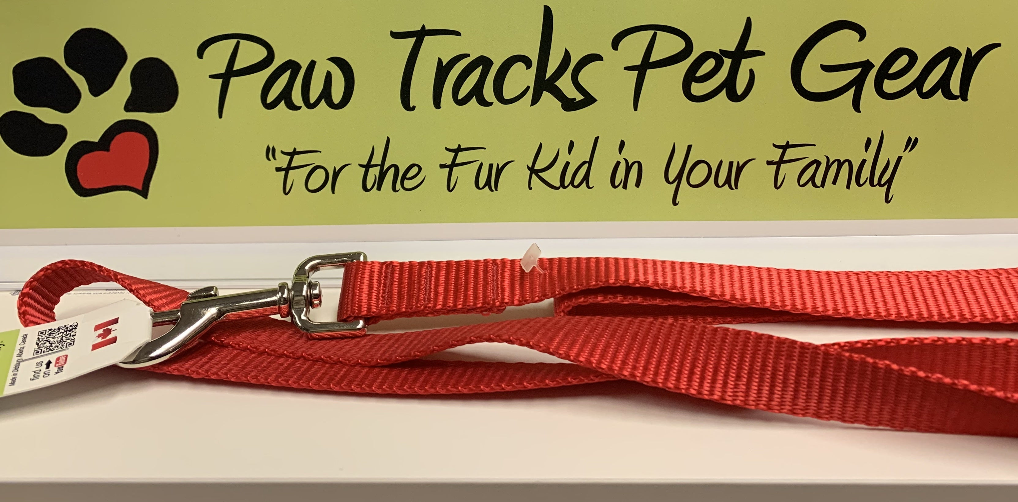 "1/2"" x 6 ft Dog Leash - Red"