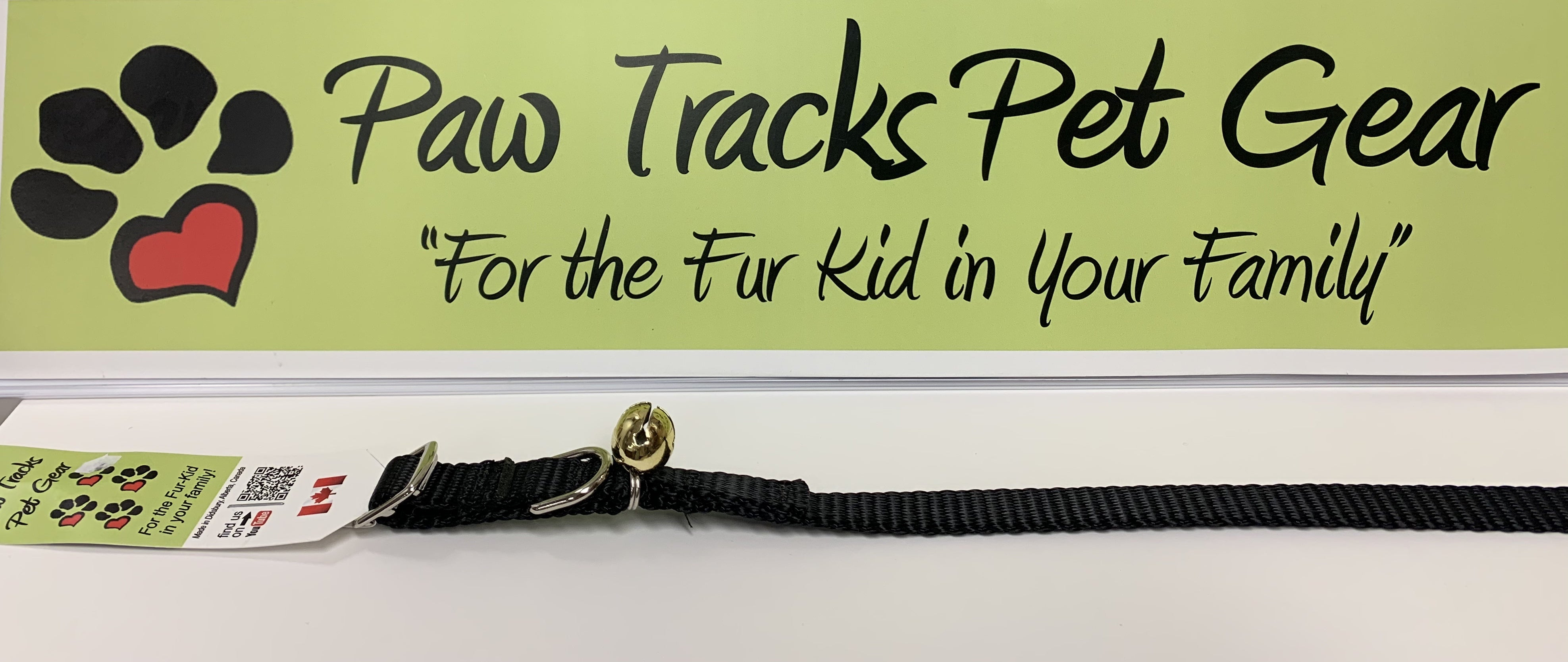 "1/2"" Cat Collar with Bell  (8-12"")- Black"