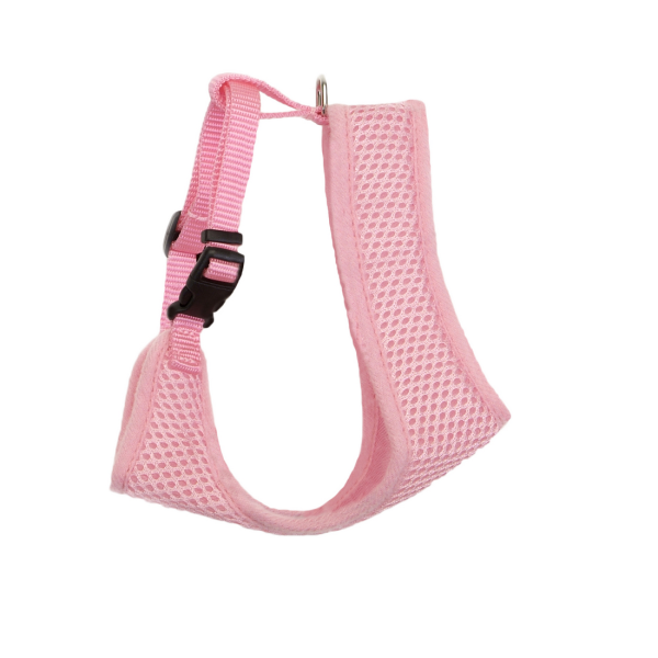 Wrap Adjustable Cat Mesh Harness - Pink