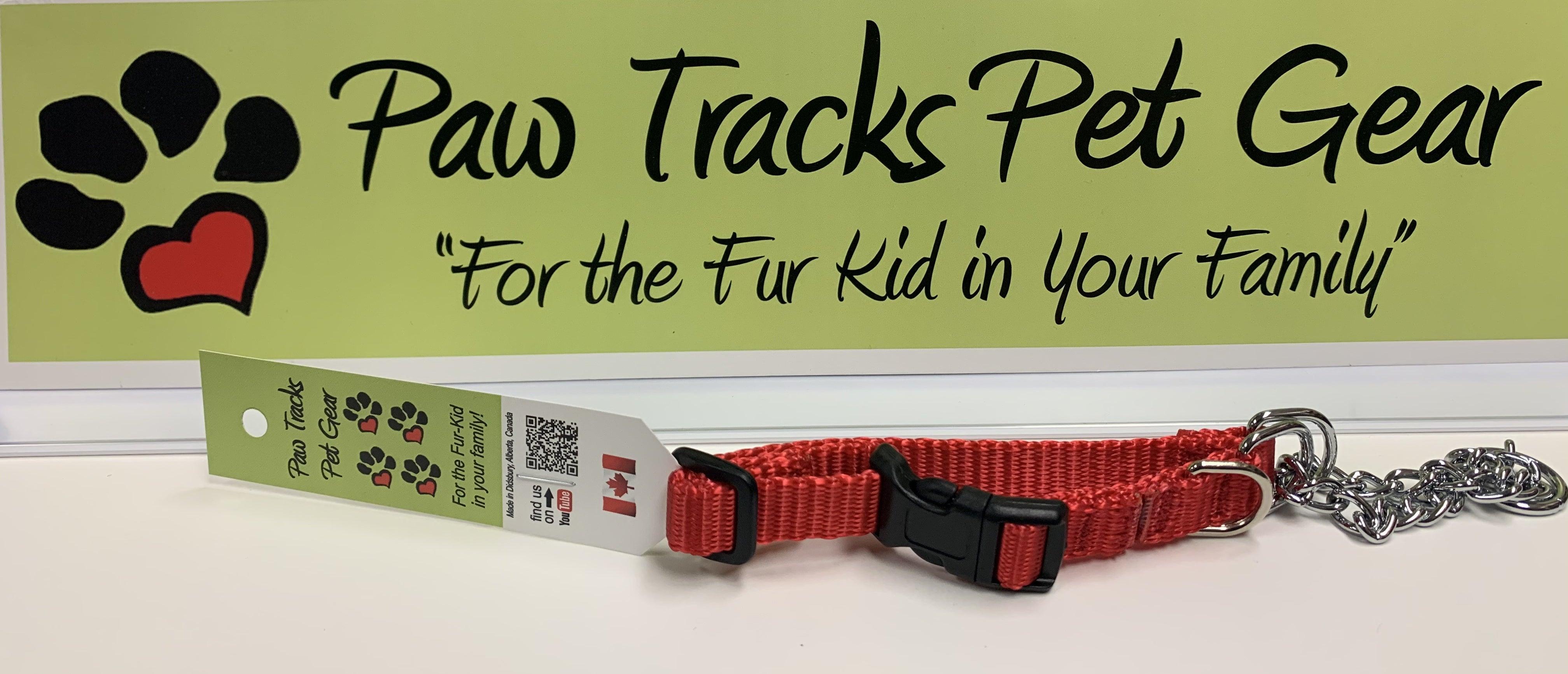 """1/2""""  Martingale Collar (10""""-13"""") -Red"""