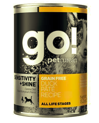 GO! Sensitivity+Shine Duck Pate 13.2OZ Dog