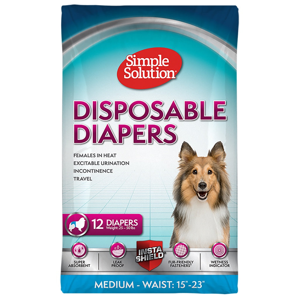 Disposable Female Diapers Medium 12PK