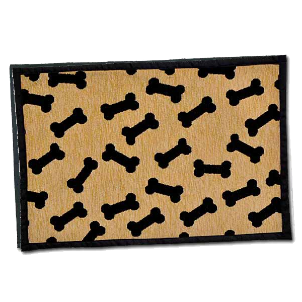 Bella Fashion Dog Dancing Bones Chenille Mat