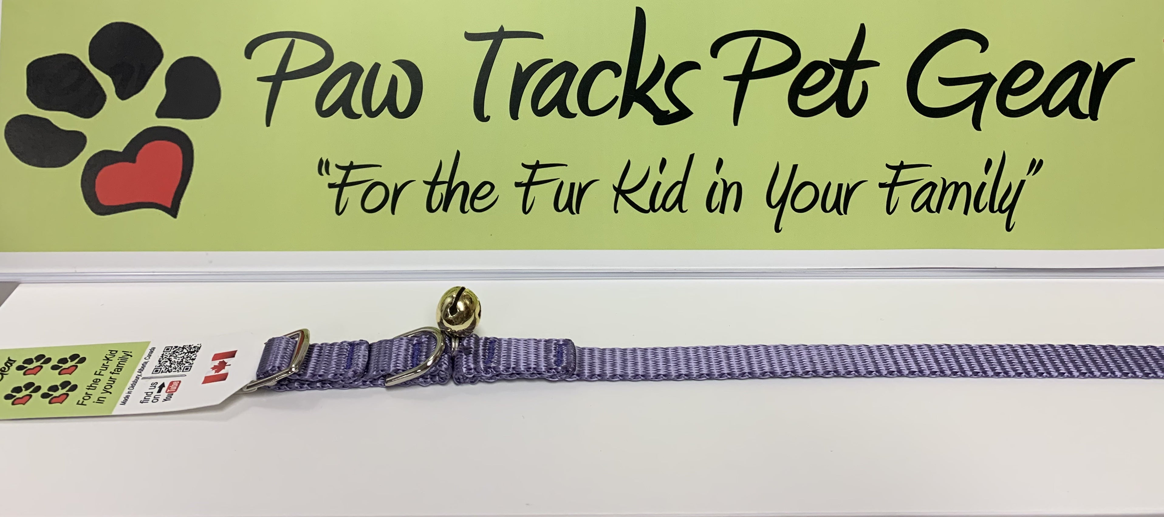 "1/2""  Cat Collar with Bell (8-12"") - Purple"