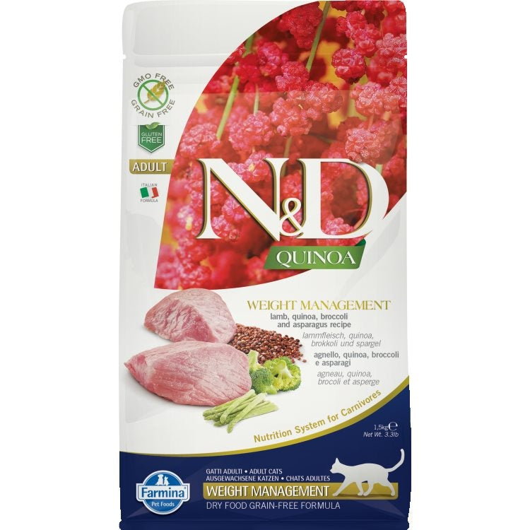 Farmina N&D Cat Quinoa Weight Management Lamb 1.5 kg